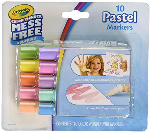 Crayola Color Wonder Mini Markers 10/Pkg-Pastels (Color Wonder Mini)