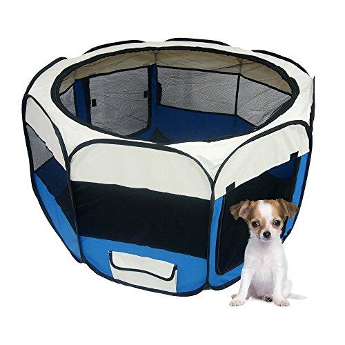 Lolipet – Blauer Freilaufgehege – großer Tierlaufstall für innern oder außen – einfach aufzubauen - 5