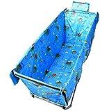 A J S l Einfache Faltende Badewannen-Erwachsene Bath Barrel-Haushalts-Badewanne-Starke Und Dauerhafte Isolierung (105 * 56 * 52cm) (Farbe : Hellblau)