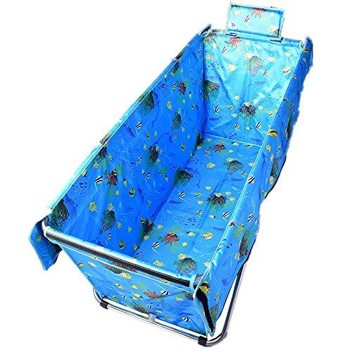 Yuan JIAN Einfache Faltende Badewannen-Erwachsene Bath Barrel-Haushalts-Badewanne-Starke und Dauerhafte Isolierung (105 * 56 * 52cm) (Farbe : Hellblau)