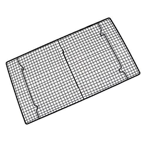 D DOLITY Antihaft Kühlregal Rack Kühlung Gitter Backblech für Brot Kuchen Backen - 46x26x3cm