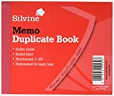 Silvine Duplicate Book Memo Ruled Feint 1-100 105.5 x 125.5mm Ref 603 [Pack of 12]