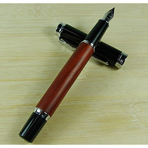 Lanlan Luxus Jinhao 8812Füllfederhalter Rose Holz Barrel Vintage Stil (Holz Cartier)