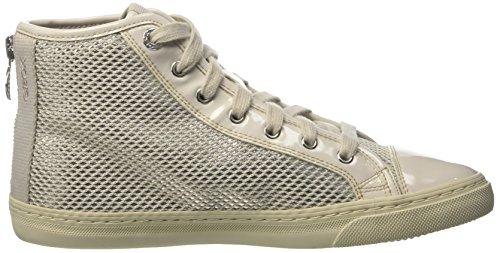 Geox D New Club E, Sneakers Hautes Femme Blanc Cassé (Ivory/Off Whitec1661)