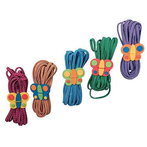 Small Foot Company - 1814 - Outillage De Jardin Pour Enfants - Elastiques Papillons - Lot De 5