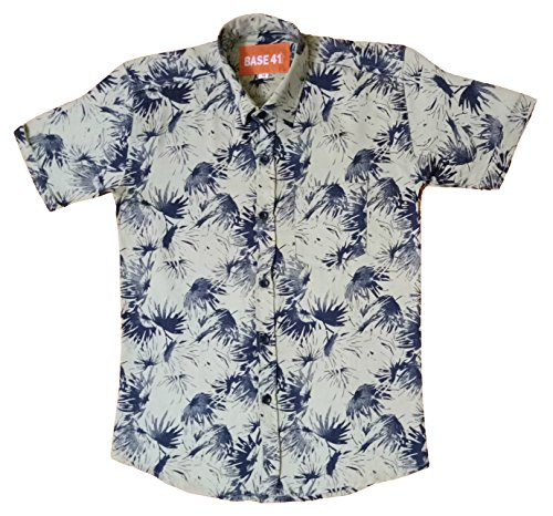 BASE 41 Boys' Half Sleeves Printed Shirt