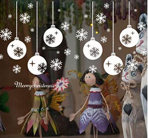 ZBYLL Weihnachten Fensteraufkleber Hängende Schneeflocke Beleuchtung Fenster Aus Glas Dekorative Wand Aufkleber