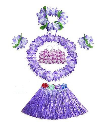 Hawaiianische Kinder Kostüm - Black Temptation Feiertags-Weihnachtsfest hawaiianischen Hula Kostüme für Kinder Set
