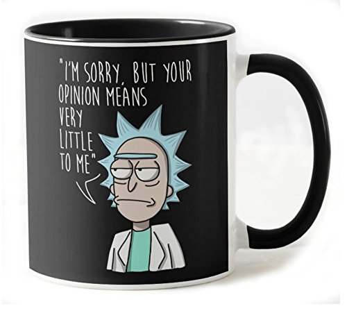 1571-Taza ceramica, Rick and Morty - Your Opinion (Legendary P,)