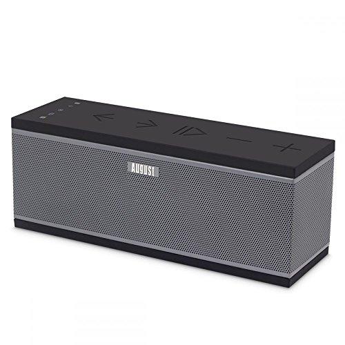 Enceinte 2.1 Stéréo WiFi Multiroom - August WS300 - Haut-Parleurs Sans-Fil Wi-fi et Bluetooth - Compatible Spotify / Tidal / Tune In / iHeart Radio / DLNA - 15W avec Subwoofer