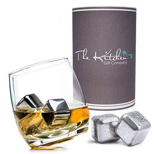 The Kitchen Gift Company - Coffret cadeau avec verre à bascule et pierres à whisky