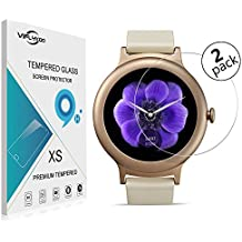 VIFLYKOO LG Watch Style Protector de Pantalla [2-Pack] LG Watch Style Cristal Vidrio Templado Protector 9H Tempered Glass Screen Protector para LG Watch Style Smartwatch