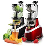 TurboTronic JuiceBar Slow Juicer für ganze Früchte 85 U/min, BPA FREE, 240 Watt starker Motor,...