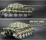RC Panzer Königstiger 1:16 Heng Long kingtiger mit Rauch und Sound , Metallgetriebe Metallschienen + 2,4Ghz By Big Boyz® platinum version