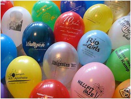 100 Stück LOLLIPOP® Latex-Luftballons mit Druck nach Ihren Wünschen / Ballondruck