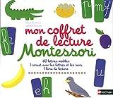Mon coffret de lecture Montessori : 60 lettres mobiles, 1 carnet avec les lettres et les sons, 1 livre de lecture