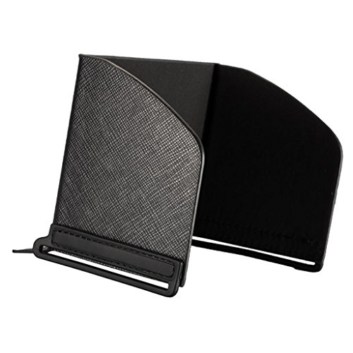 D DOLITY Couverture Capot de Soleil Moniteur Pare-Soleil Protection Housse en Cuir PU Silicone - Noir #1