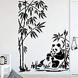 Adesivo murale Motivo Panda Carino per Accessori Decorazione camerette Decalcomania Vinile Camera da Letto Decorazione murale Animalier 58x81cm
