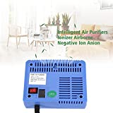Garsent AC220-240V Air Purifier Professional, Intelligent Air Purifiers Ionizer Airborne Negative Ion Anion Generator Portable Air Ioniser Dust, Pollen, Odors, Smoke, Allergies etc Blue.