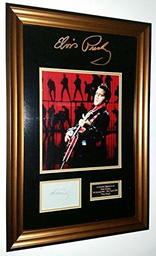 Rare Elvis Presley firmato display Dealer * * Aftal online certificato di autenticità