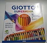 Giotto supermina mine de 3,8mm 18pièces piu '2crayons en graphite