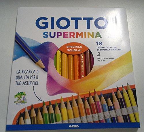 Giotto supermina mina da 3,8 mm 18 pz piu' 2 matite in grafite