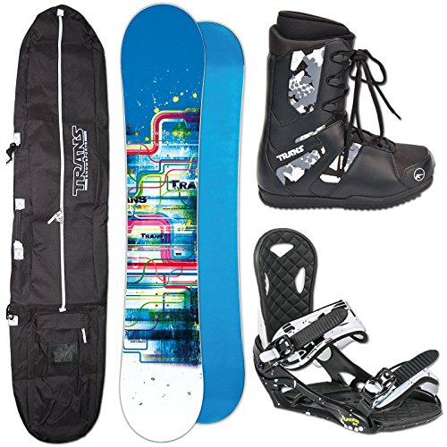 SNOWBOARD SET TRANS LTD BLUE 145 CM + ECO BINDUNG GR. M + BAG + BOOTS (Bootgröße)