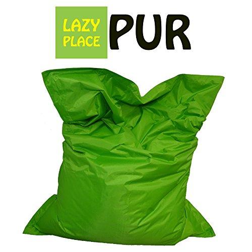 Lazy Place Pur XXL Sitzsack Outdoor mit EPS Sitzsack Füllung, ca.140 x 180 cm, Neu (apfelgrün)