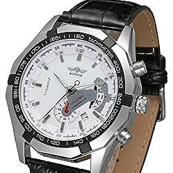 LEORX Men Boy Fashion Hollow Style Automatic Mechanical Wrist Watch - 1 Piece
