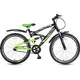 #7: Hero RX-1 26T Single Speed Sprint Bike - Black & Green (16.7