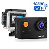 APEMAN WiFi Action Cam Sport Impermeabile Full HD 1080P 14MP 170° Grandangolare 2.0 Pollici 2x1050mAh Batterie e Kit Accessori con Pacchetto Portatile (Nero) - apeman - amazon.it