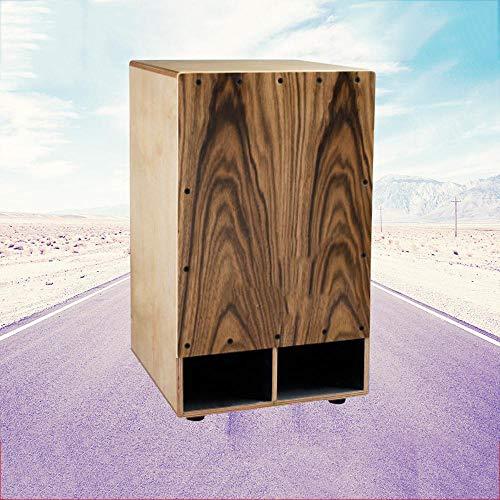 irugh Bass Cajon Drum hohe Qualität Cajon Dose Drum Black Chicken hölzerne Trommel Geschenk-Paket