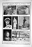 POLIZIOTTO 1922 DEL BRUCIATORE DELL'ERBACCIA DELLA NEVE DELLE PECORE DELL'ARTISTA DI DAVID FRANCIS DELLA STATUA