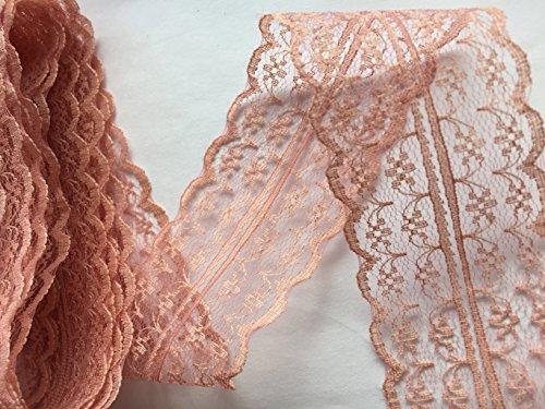 Sparkles Gems Vintage Stil, Spitze, Schleife, Band Bridal Wedding Zierrand, 47 mm Dusky Rose