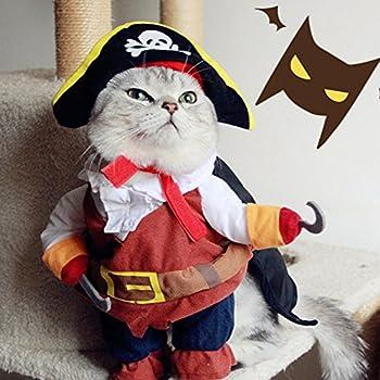 Costume pour chien chat Pirate des Caraïbes Avec chapeau
