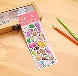 Dessin animé mignon bulle coton autocollant décoration de téléphone portable autocollant journal autocollant bulle autocollant Lion et lapin