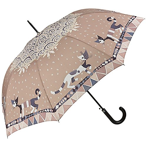 VON LILIENFELD Paraguas Automática Mujer Motivo Arte Gato Rosina Wachtmeister: Brunello