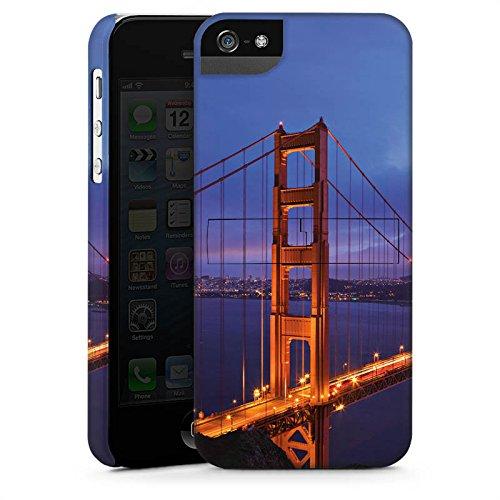 Apple iPhone 5s Housse Étui Protection Coque Pont du Golden Gate San Francisco Amérique CasStandup blanc