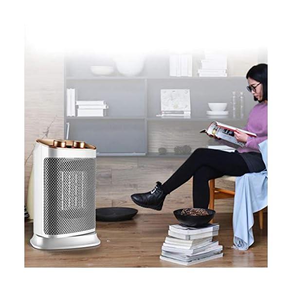 Moolo Calefactores Mini Calentador Eléctrico, Radiador de Cerámica Térmica Termo Cerámica Portátil Compacto, Portátil, 3…