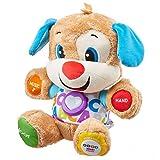 Fisher-Price Puppy Eveil Progressif jouet bébé, peluche interactive, version anglaise, 6 mois et plus, FPM43