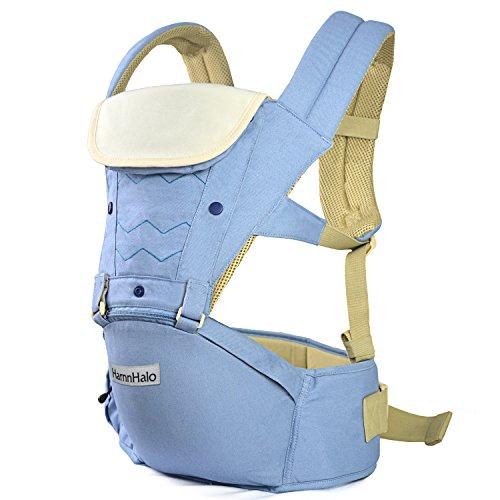 Imagen de harnnhalo   portabebés de diseño ergonómico ajustable al tamaño m10 azul