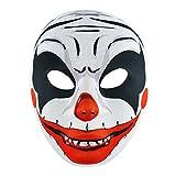 Adults Halloween Scary Clown Face Mask Fancy Dress Accessory