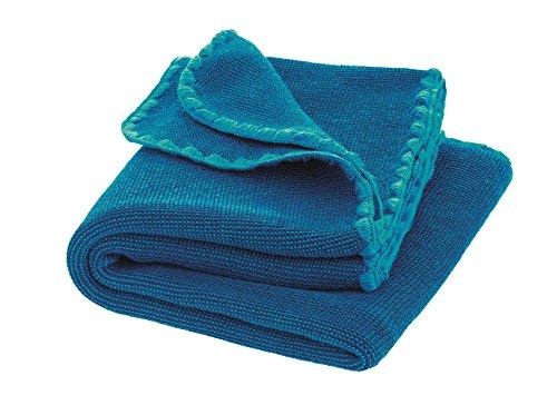 Disana Melange-Babydecke Wolle, Größe: 80x100 cm (blau)