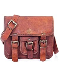 Handmade Leather Messenger Bags For Men And Women Shoulder Satchel Briefcase