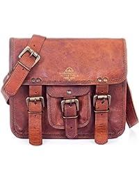 Handmade Leather Messenger Bags For Men And Women Shoulder Satchel Briefcase