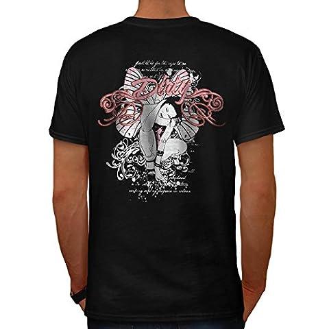 Sale Fille Papillon Sexy Geisha Fille Men S T-shirt le dos | Wellcoda