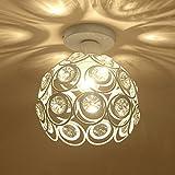 Kronleuchter 60W Luxus Kronleuchter Kristall Lampe Licht Deckenleuchte LED Unterputz Wohnzimmer/Restaurant/Küche Moderne Leuchte 110-240V (Weiß)