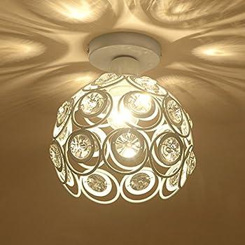 Plafoniera in Cristallo Moderno Lampadario in Cristallo Luce Lüster  Lampadario 60W E27 per corridoio portico camera