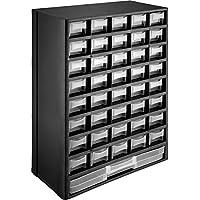 TecTake 402873 Módulo clasificador piezas pequeñas con 41 cajones, Anclajes para montaje en la pared