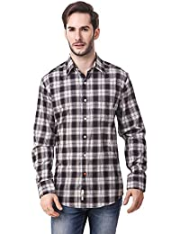 Mind The Gap Black Checked Formal Cotton Shirt